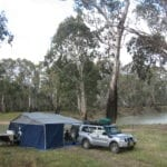 Camping Birdcage Reserve Murrumbidgee River New South Wales Australia