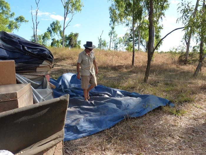 Camping At Walsh River, Burke Developmental Road Channel Country Queensland