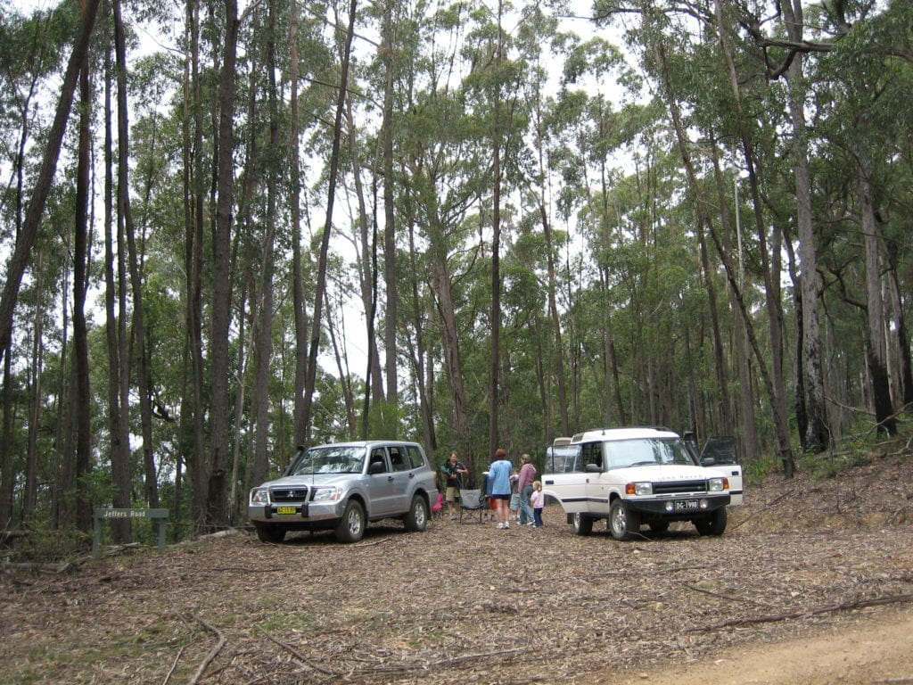 Off-Road Race Vehicle. New NP Pajero in the New South Wales state forest