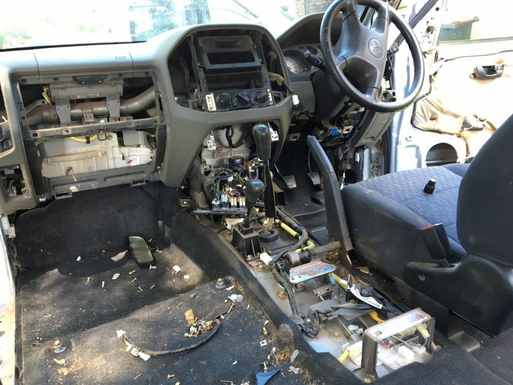 Rally Car Build. NP Pajero Ute