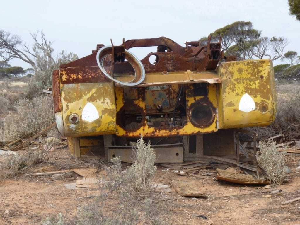 Old Cars Koonalda Station Nullarbor Plain