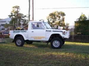 Build A Race Car Stretched Pajero Ute