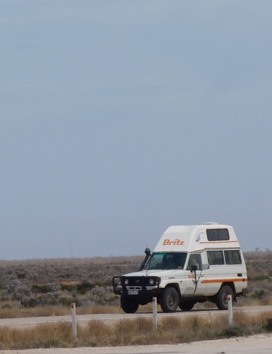 Unusual Travel Destinations - A Lone Traveller On The Nullarbor Plain