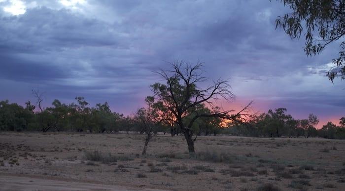 Sunset, Camping Paroo River