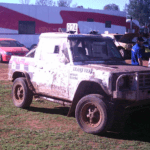 Pajero ute at Condo 750 off road event