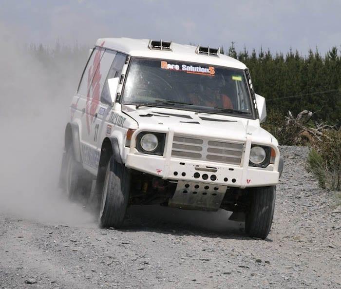 David Glazier's Pajero Race Vehicle