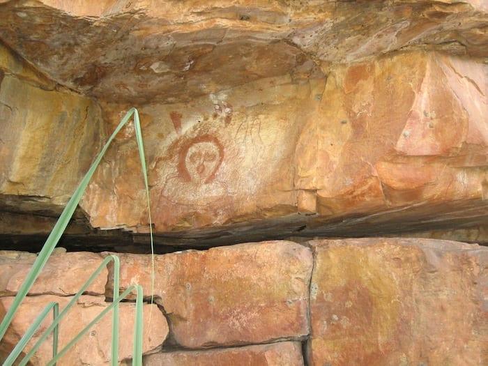 Ancient Wandjina Art at Galvans Gorge.
