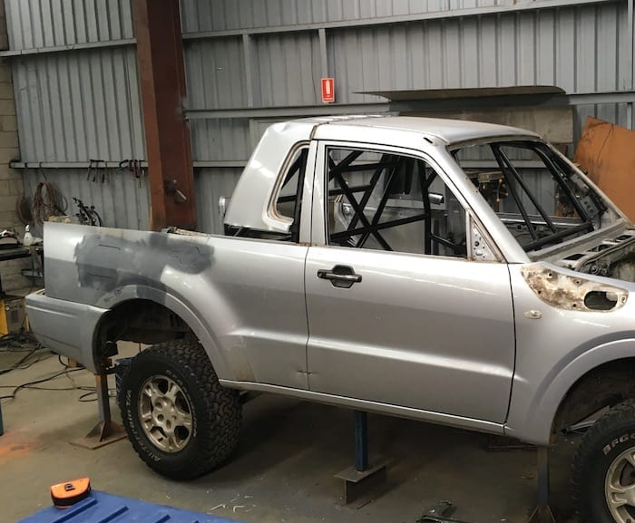 Pajero Ute Conversion. Rear door-surround is a pretty good fit.
