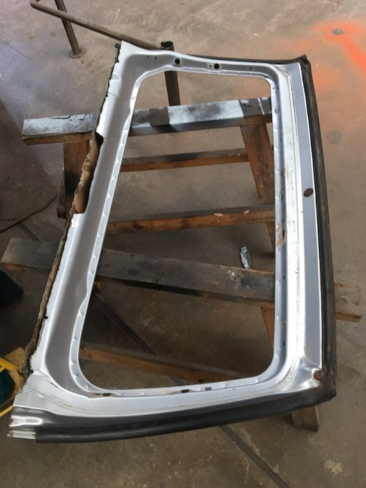 Pajero Ute Conversion. What's left of the rear door.