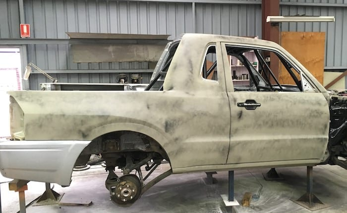 Pajero Ute Conversion. Primed and ready to paint.