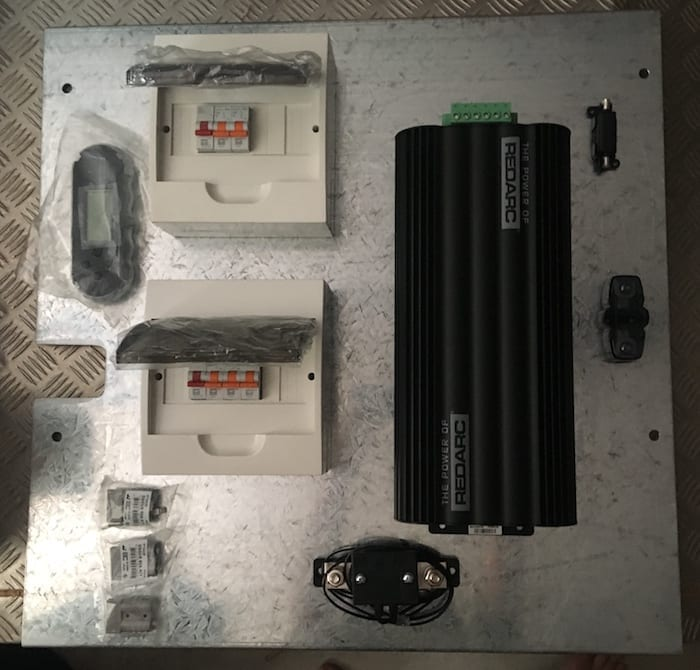 Preliminary panel layout. Dual Battery System Layout.