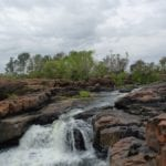 Small waterfall at King Edward River.