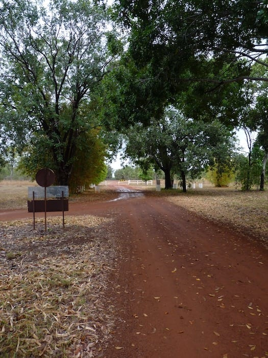 On the way out of Drysdale River Station.