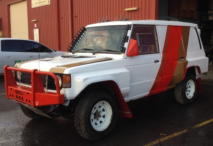 It will never be this clean again. 80s Paint Job Retro Pajero.