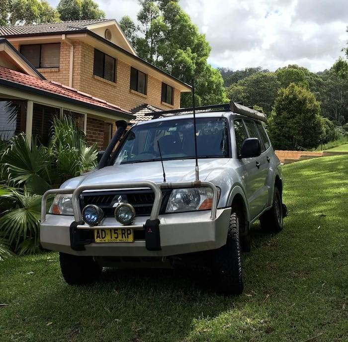The new donor vehicle - our old NP Pajero. LS1 Engine Swap.