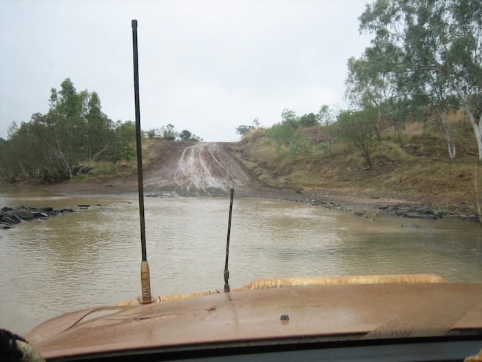 Approaching Durack River. Muddy Gibb River Road.