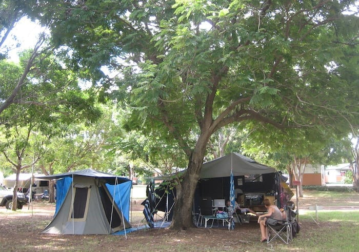 Our shanty town at Big 4 caravan park in Kununurra.