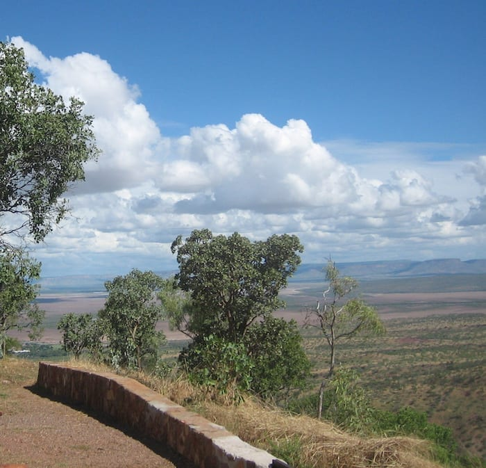 Panoramic views from Five Rivers Lookout. Looking South. Wyndham Western Australia.