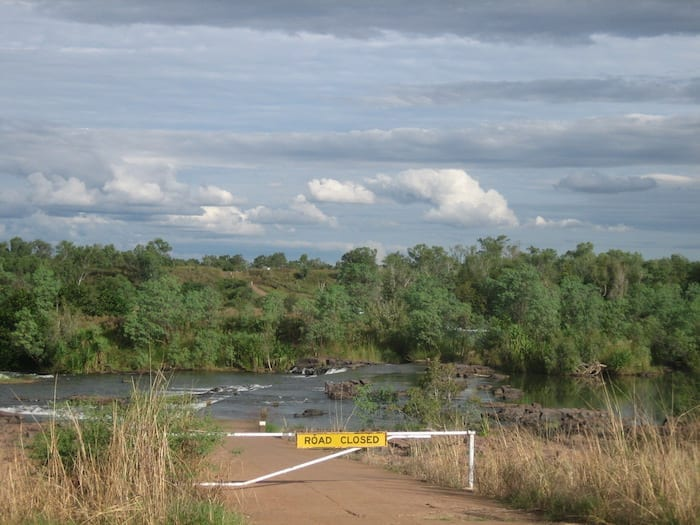 Ivanhoe crossing from the western side. Wyndham Western Australia.