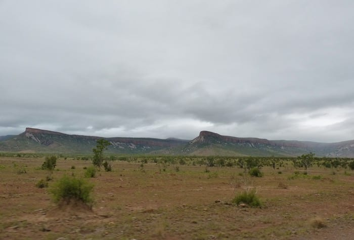 The magnificent Cockburn Ranges. Muddy Gibb River Road.