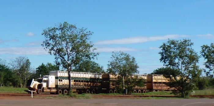 Road train at Kununurra.