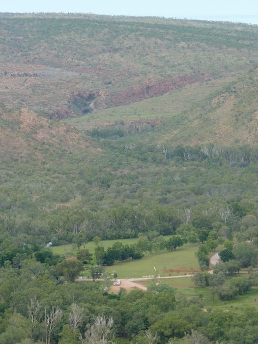 Looking down on El Questro Station from Station Lookout. Kimberleys.