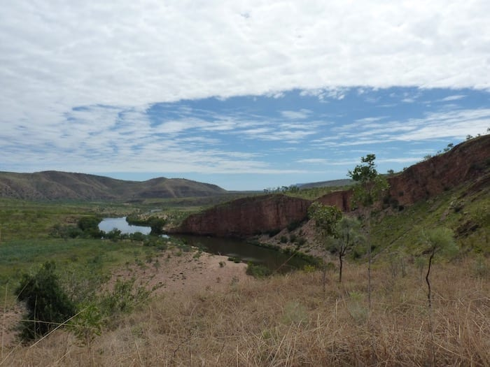 Pentecost River from Pigeon Hole Lookout, El Questro Station Kimberleys.