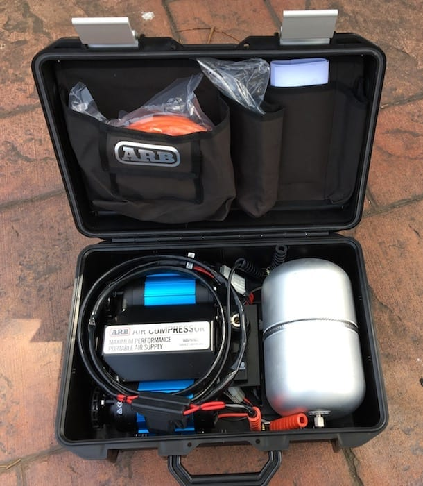 This is what's inside the case. ARB compressor.