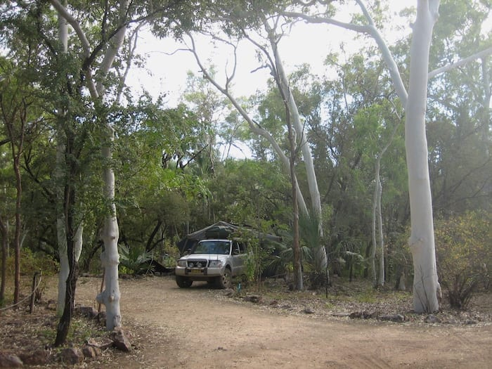 Our very private campsite at Adels Grove.