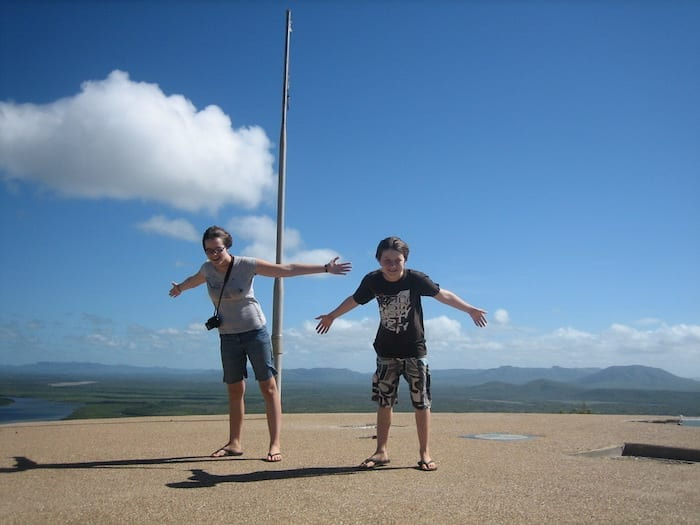 Was rather windy at Grassy Hill lookout! Cooktown.