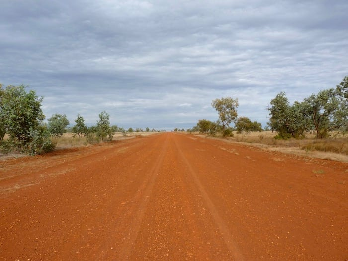 The road north out of Camooweal. This photo was actually taken on the station that Anna (Dutch/Irish lady we met at Windjana Gorge in the Kimberleys and travelled with for a few days) worked on for 6 months. Adels Grove.