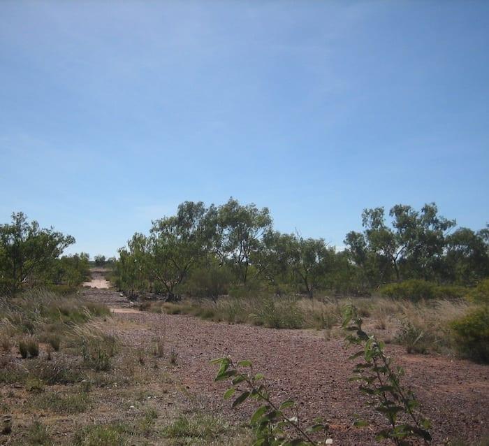 Remnants of the old Stuart Highway at Attack Creek, Northern Territory. Mataranka To Tennant Creek.