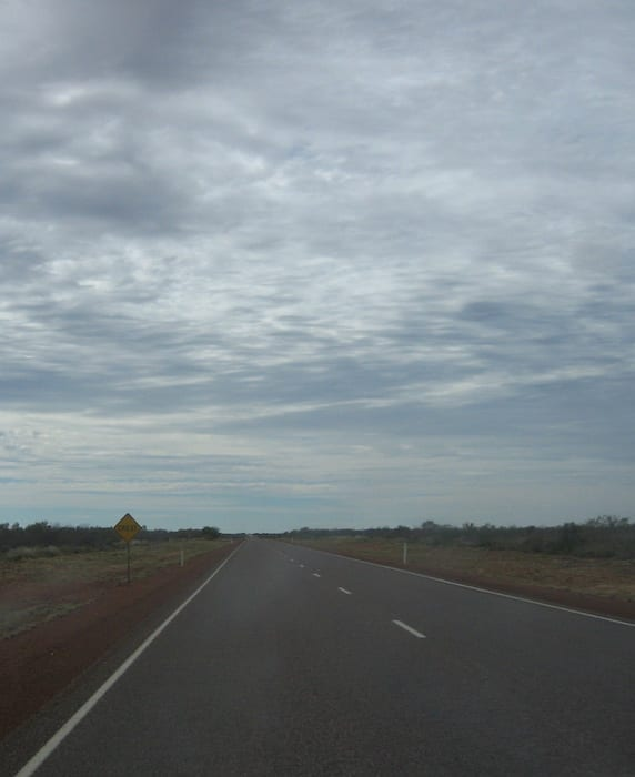 """Sign says, """"Crest"""". Where? En route to Camooweal Caves National Park"""