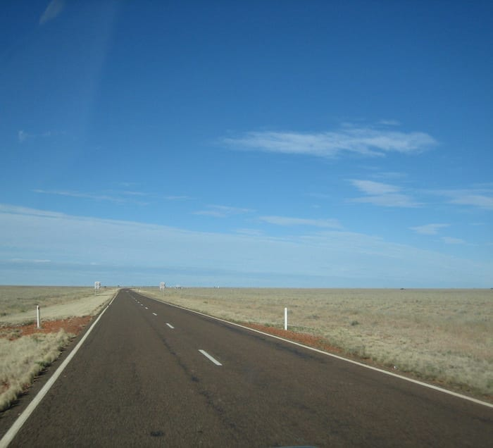Mitchell grass plains on the Barkly Tableland, en route to Camooweal Caves National Park