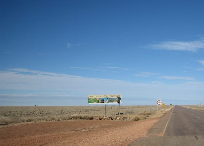 Into Queensland from NT, en route to Camooweal Caves National Park