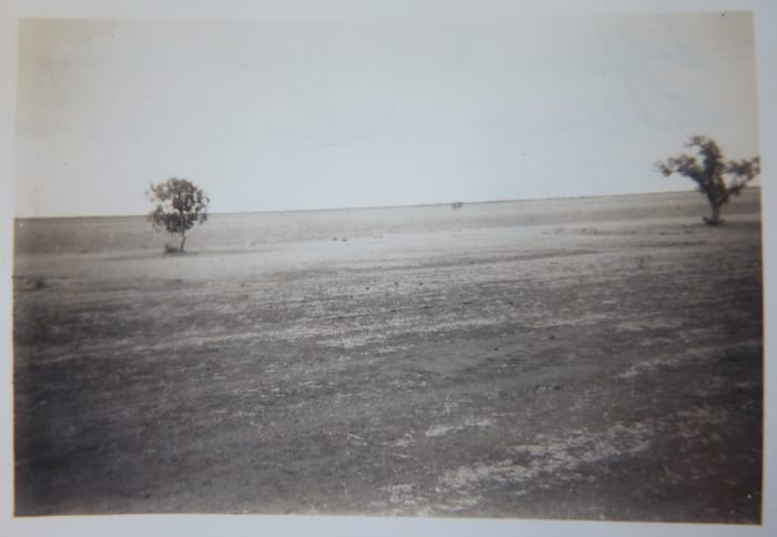 Dad travelled through here in 1950. This is his photo of the Barkly Tableland, Northern Territory. Mataranka To Tennant Creek.