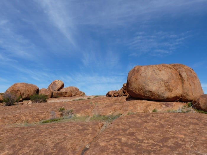 Amazing colours of the outback. Devils Marbles.