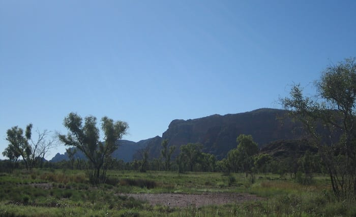 Spectacular scenery on the road into Purnululu National Park.