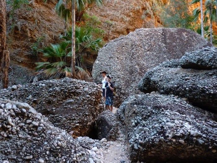 Huge boulders, Mini Palms Gorge, Purnululu National Park.