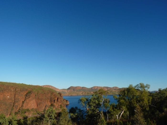 View of Lake Argyle from campground.