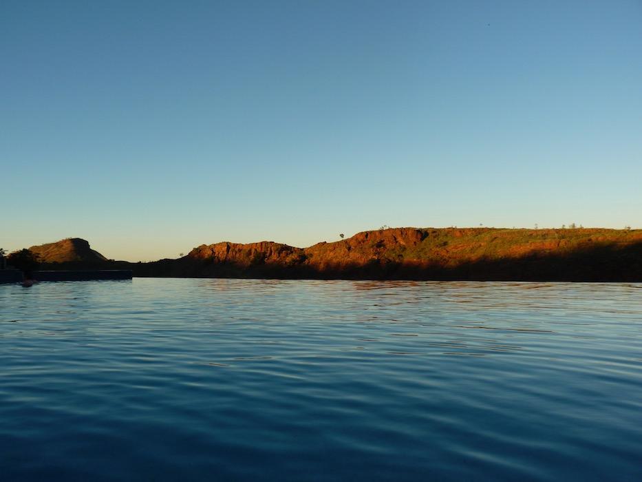 Infinity pool at Lake Argyle resort.
