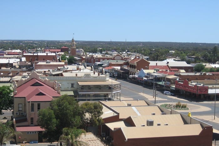 Hannan Street, Kalgoorlie from head frame at Museum Of The Goldfields.
