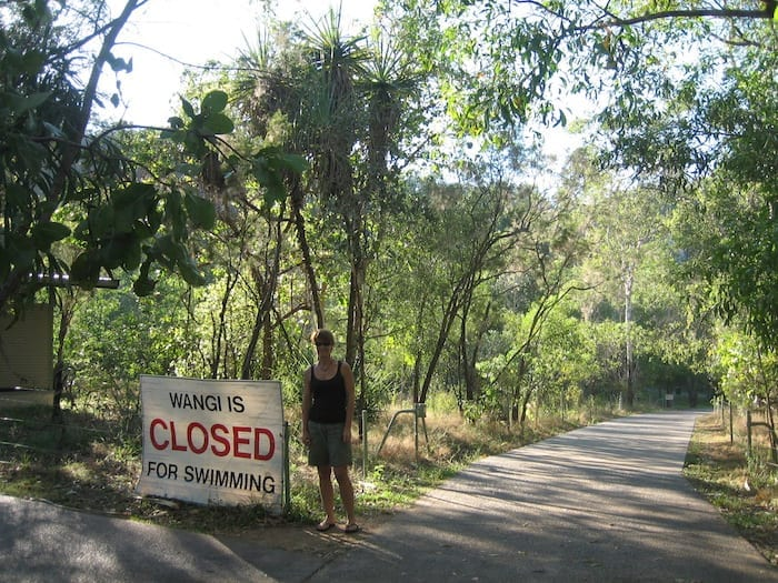 Wangi Falls at Litchfield National Park. Closed due to saltwater crocodile.
