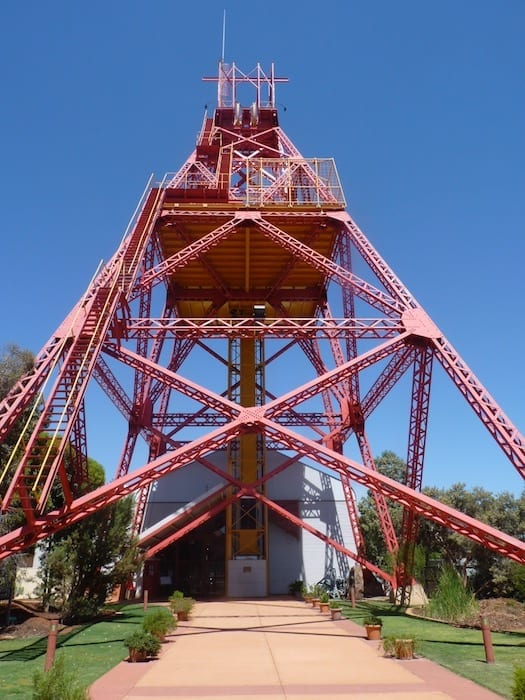 Headframe doubles as a lookout, Museum Of The Goldfields Kalgoorlie.