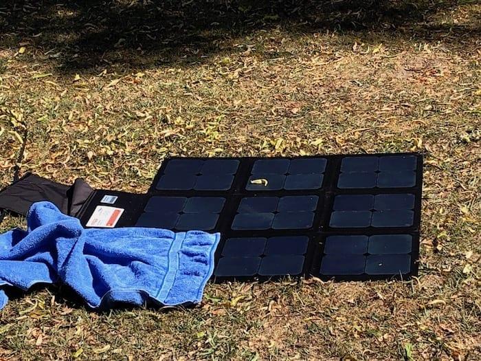 REDARC 115W SunPower Cell solar blanket 1/9 covered.