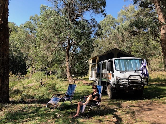 Camping at Wattle Flat, Styx River.
