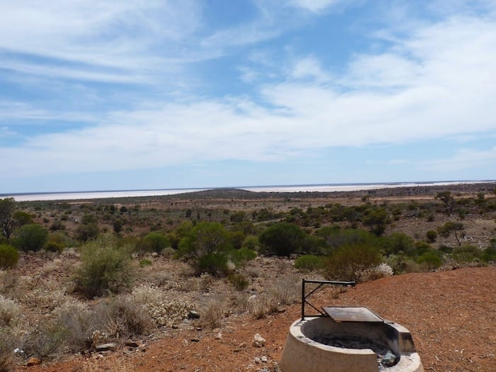 Overlooking Lake Ballard from Snake Hill. Golden Quest Discovery Trail