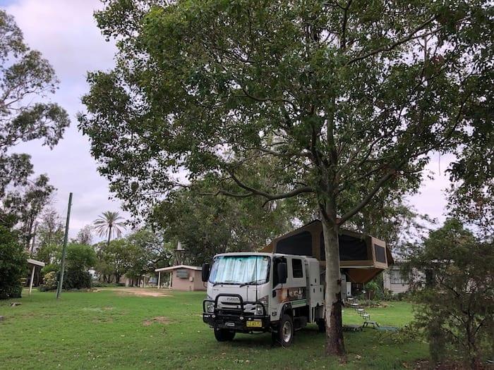 Camped at Condamine Caravan Park.
