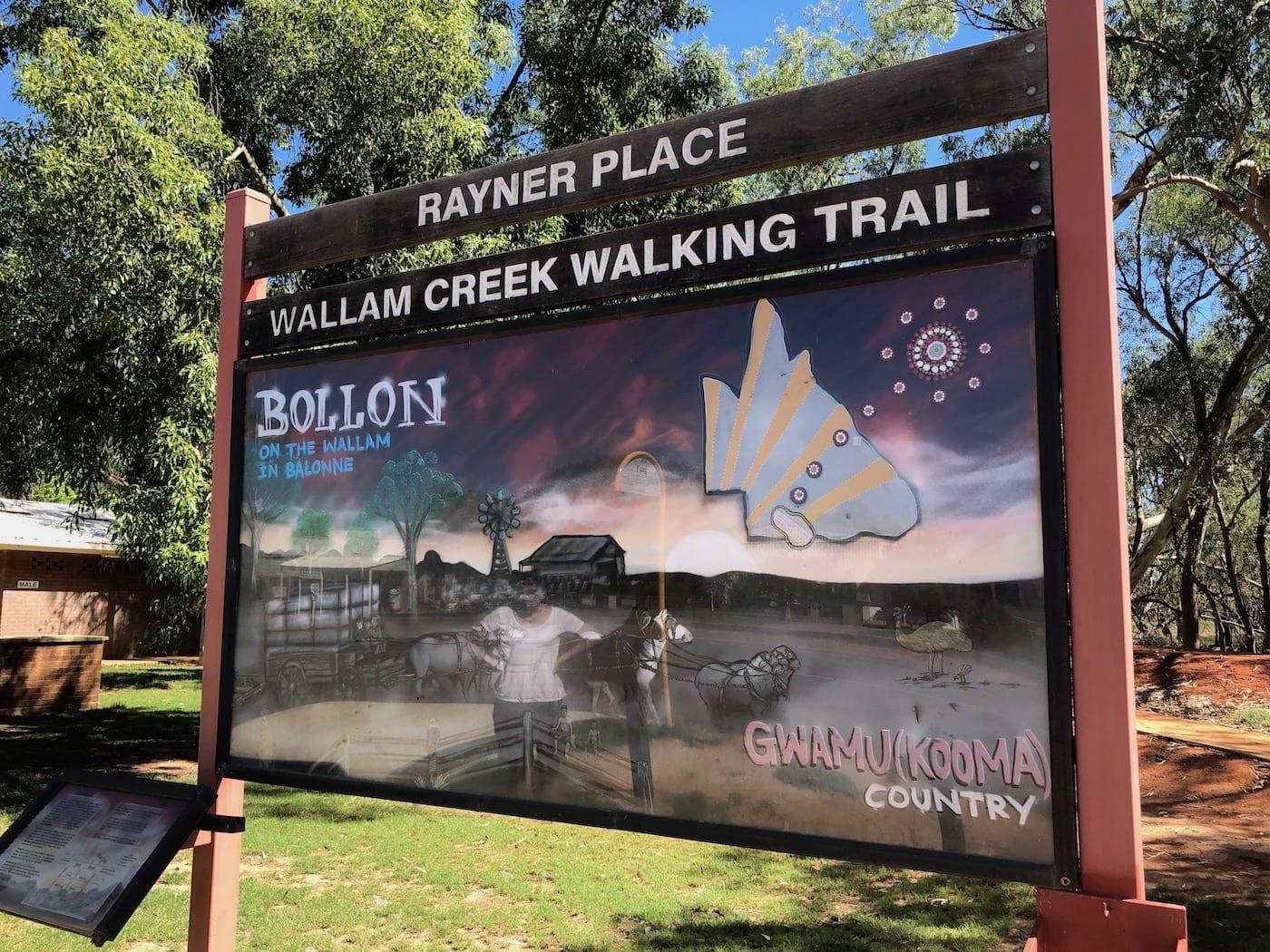 Wallam Creek walking trail, Bollon QLD.