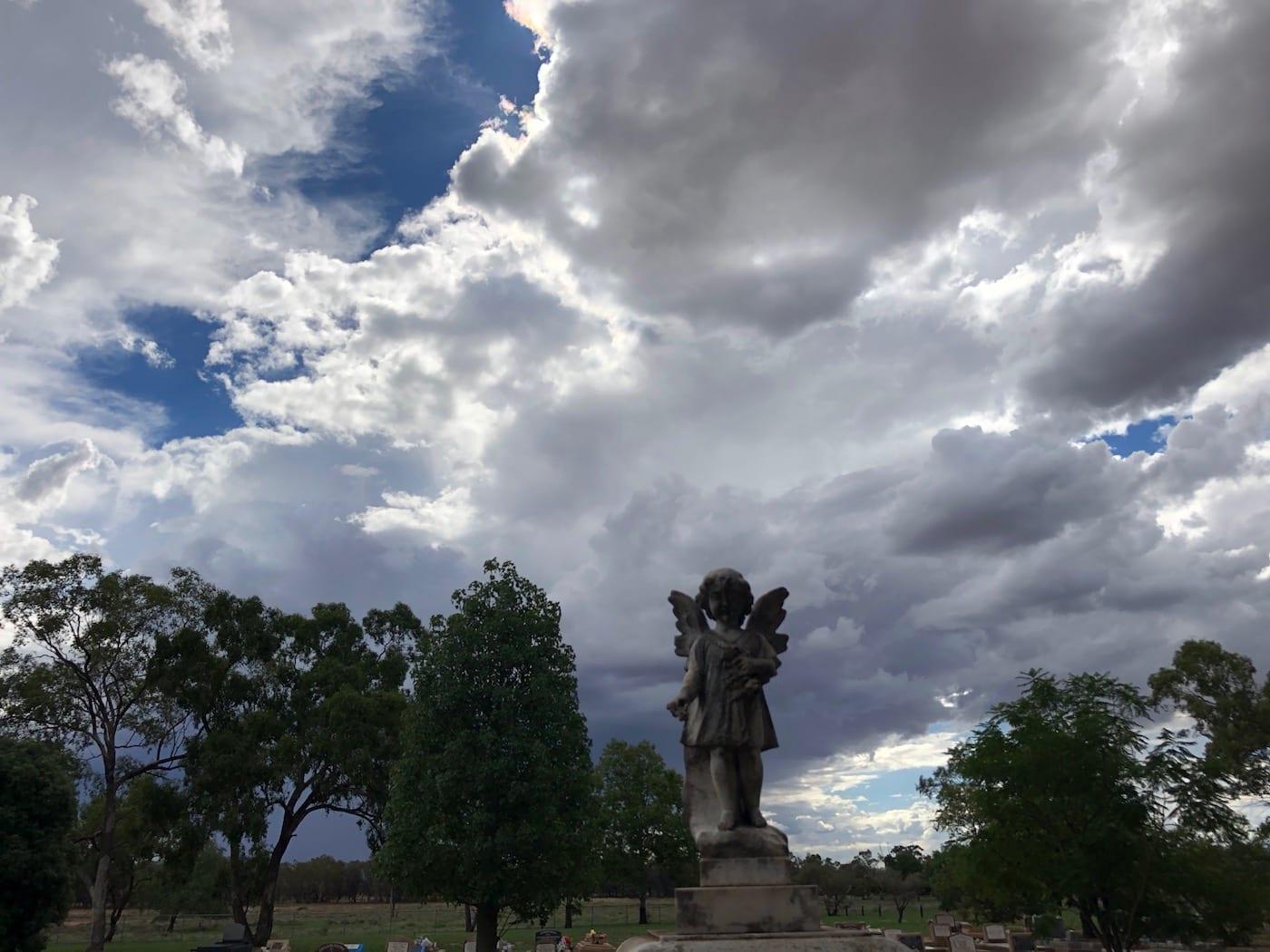 Storm clouds building, Bollon QLD.